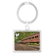 Classic Train Cars Landscape Keychain