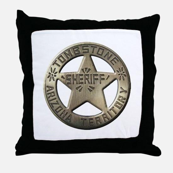 Tombstone Sheriff Throw Pillow