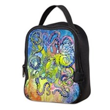 Wild Octopus Neoprene Lunch Bag