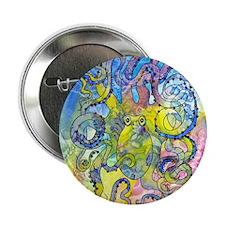 "Wild Octopus 2.25"" Button (10 pack)"