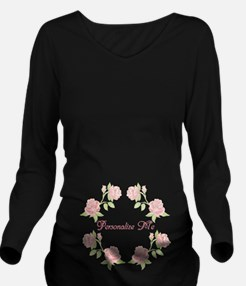 Personalized Rose Long Sleeve Maternity T-Shirt