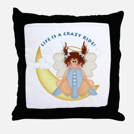 Crazy Ride Throw Pillow