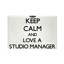 Keep Calm and Love a Studio Manager Magnets