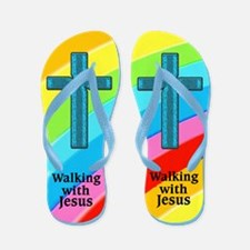 JESUS IS LOVE Flip Flops