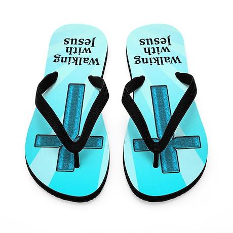WALK WITH JESUS Flip Flops