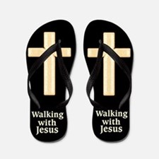 WALKING WITH JESUS Flip Flops