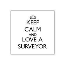 Keep Calm and Love a Surveyor Sticker