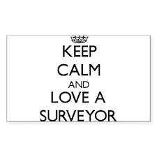 Keep Calm and Love a Surveyor Decal