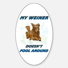 Weiner Dog Agility Oval Decal