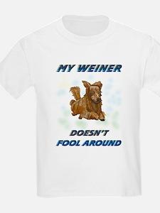 Weiner Dog Agility Kids T-Shirt