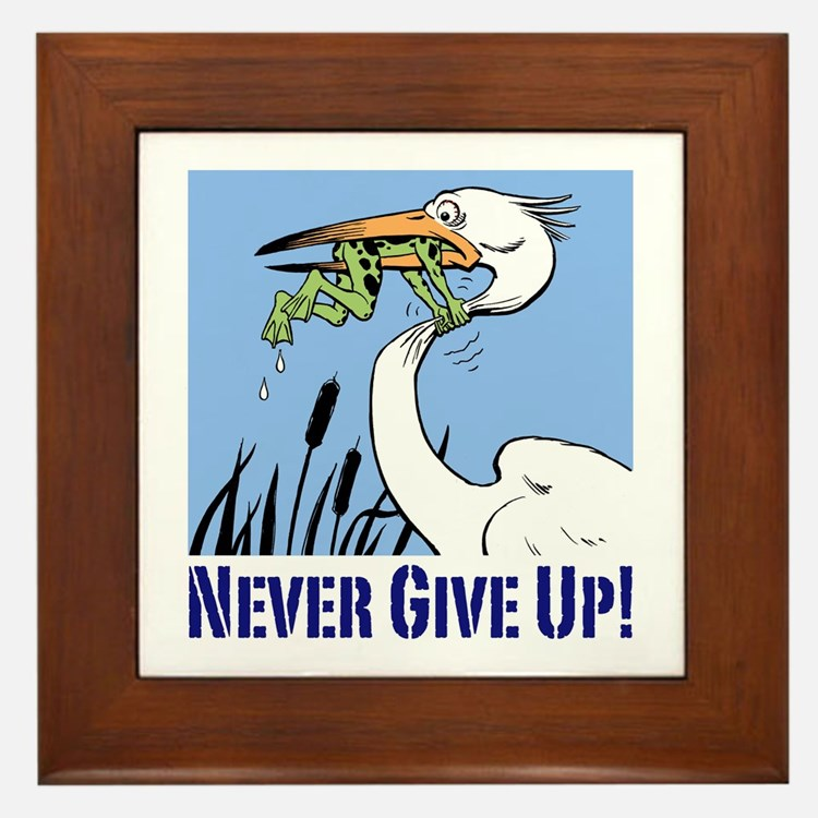 Inspiration Heron Never Give Up Frog Gifts Amp Merchandise
