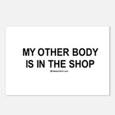 My other body is in the shop / Gym humor Postcards