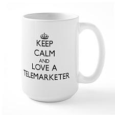 Keep Calm and Love a Telemarketer Mugs