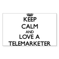 Keep Calm and Love a Telemarketer Decal