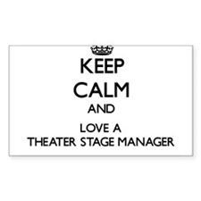 Keep Calm and Love a Theater Stage Manager Decal
