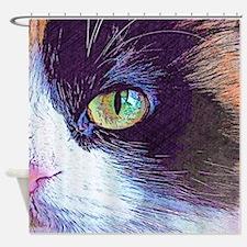 Calico Cat Shower Curtain