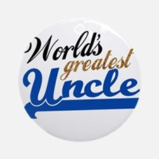 Worlds Greatest Uncle Ornament (Round)