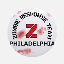 Zombie Response Team Philadelphia Round Ornament