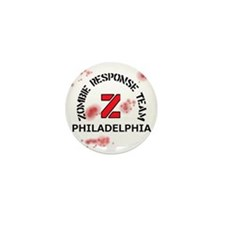 Zombie Response Team Philadelphia Mini Button