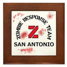 Zombie Response Team San Antonio Framed Tile