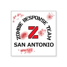 "Zombie Response Team San An Square Sticker 3"" x 3"""