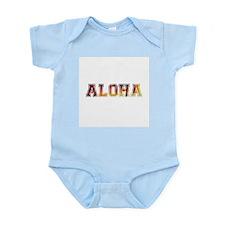 Sunset Aloha text Body Suit