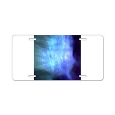 Blue Outer space Aluminum License Plate