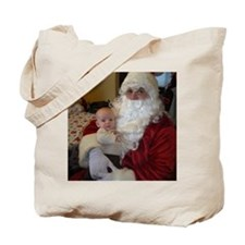 Santa and his newest elf Tote Bag