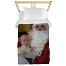 Santa and his newest elf Twin Duvet