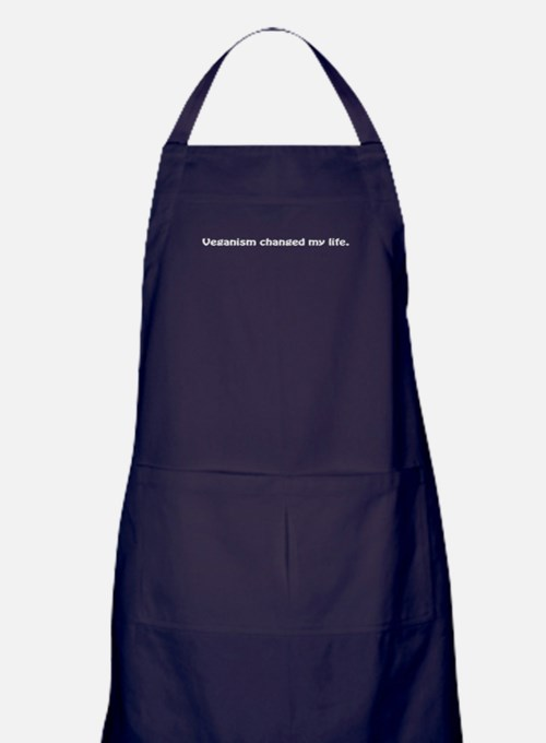 Veganism-changed-my-life.png Apron (dark)