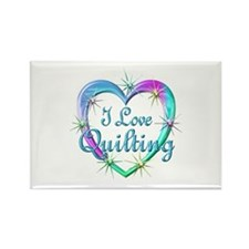 I Love Quilting Rectangle Magnet (100 pack)