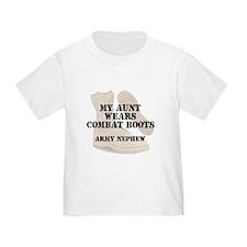 Army Nephew Aunt wears DCB T-Shirt