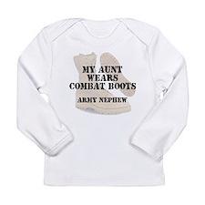 Army Nephew Aunt wears DCB Long Sleeve T-Shirt