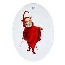 Vintage Devil Skeleton Skull Halloween Faust Death