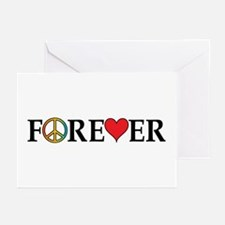 Peace,Love,Forever Greeting Cards (Pk of 10)