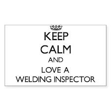 Keep Calm and Love a Welding Inspector Decal