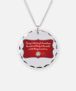 Polar Express Quote Necklace