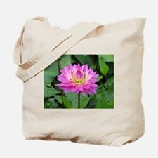 Purple Yellow Dahlia Tote Bag