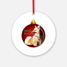 Icelandic Sheepdog christmas Ornament (Round)