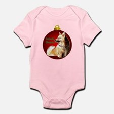 Icelandic Sheepdog christmas Infant Bodysuit