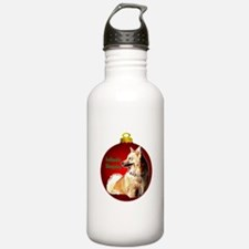 Icelandic Sheepdog christmas Water Bottle