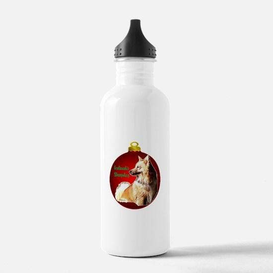 Icelandic Sheepdog christmas Water Bottle