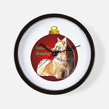 Icelandic Sheepdog christmas Wall Clock