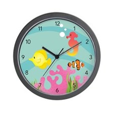 Mermaid Theme Wall Clock