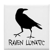 Raven Lunatic - Halloween Tile Coaster