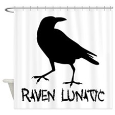 Raven Lunatic - Halloween Shower Curtain