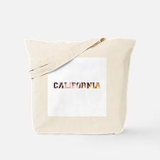 California Sun text Tote Bag