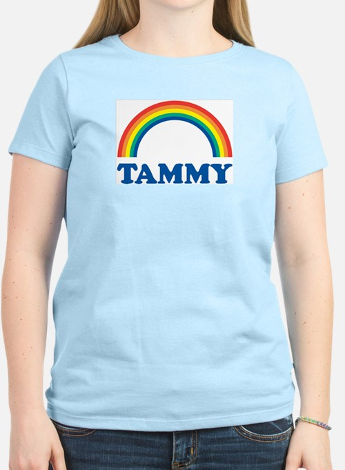 TAMMY (rainbow) Ash Grey T-Shirt