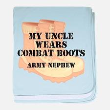 Army Nephew Uncle Desert Combat Boots baby blanket