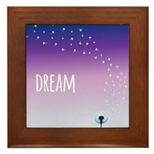 Dream Dandelion Framed Tile
